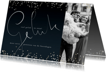 Kerstkaart 2020, handgeschreven tekst en sterretjes
