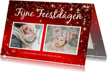 Kerstkaart ansichtkaart met 2 foto's