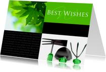 Kerstkaart Best Wishes groenvoorziening