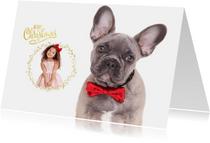 Kerstkaart - Bulldog