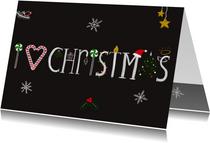 Kerstkaart CliniClowns I love Christmas