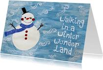 Kerstkaart CliniClowns winter