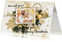 Kerstkaart collage kerstitems scrapbook