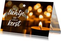 Kerstkaart - een lichtje tijdens de kerst