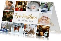 Kerstkaart eenvoudige stijlvolle fotocollage met 10 foto's