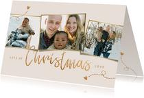 Kerstkaart fotocollage christmas love