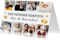 Kerstkaart fotocollage kerstkus met 8 eigen foto's