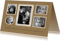 Kerstkaart fotocollage lijstjes kraft - BC