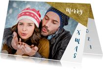 Kerstkaart grafisch achtergond inkleurbaar