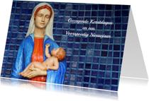 Kerstkaart Maria met Jezus
