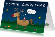 Kerstkaart Merrie Christmas
