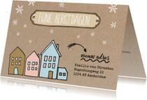 Kerstkaart met adres wijziging