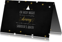 Kerstkaart Oh holy night lyrics