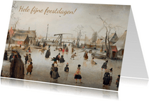 Kerstkaart Schaatsenrijden van Hendrick Avercamp
