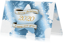 Kerstkaart ster ijs 2020 RB