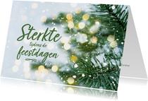 Kerstkaart - sterkte tijdens de feestdagen