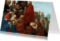 Kerstkaart van Hendrick ter Brugghen - De aanbidding