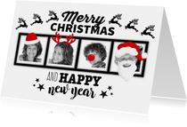 Kerstkaart verkleed met 4 foto's