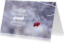 Kerstkaart winter foto letters