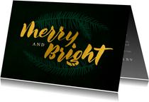 Kerstkaart zakelijk 'Merry and bright'