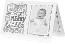 Kerstkaart zwartwit tekst & foto