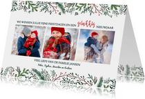 Kersttakjes 3 foto's collage