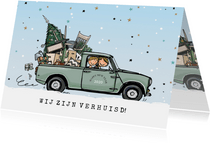 Kerstverhuiskaart Mini pick-up