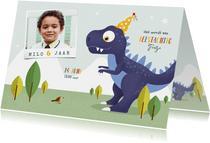 Kindefeestje t-rex feest vrolijk dinosaurus vogel foto
