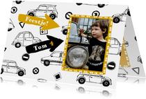 Kinderfeestje auto's en foto
