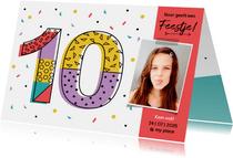 Kinderfeestje confetti meisje 10 jaar