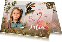 Kinderfeestje jungle dieren tropisch meisje foto