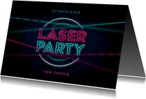 Kinderfeestje lasergamen party neon activiteit schieten