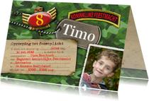 Kinderfeestje leger camouflage foto feest