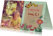 Kinderfeestje met vlinders en bloemen