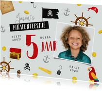 Kinderfeestje piraten thema foto feestje munten