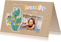 Kinderfeestje uitnodiging fancactus feestje