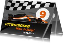 Kinderfeestje uitnodiging Formule 1