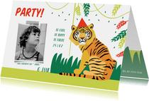 Kinderfeestje uitnodiging jungle party jongen