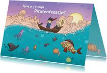 Kinderfeestje uitnodiging Piratenfeest