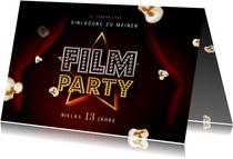 Kindergeburtstag Einladung Filmparty Popcorn