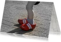 Kinderkaart Klompjes benen