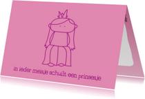 Kinderkaart Prinsesje
