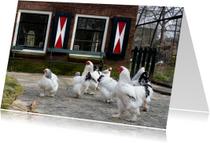 Kippen op de boerderij