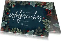 Klassische geschäftliche Weihnachtskarte botanisch