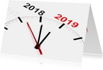 Nieuwjaarskaarten - Klok telt af naar 2019