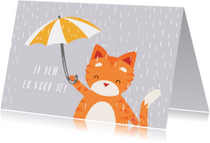 Knuffelkat met Paraplu