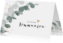 Kommunions-Glückwunschkarte Eukalyptus