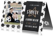 Kommunionskarte eigene Fotos Fußball
