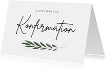 Konfirmation Glückwunschkarte Olivenzweig
