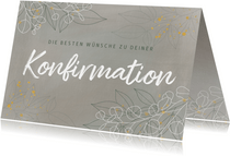 Konfirmation Karte Glückwunsch filigrane Blätter